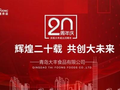 激扬二十载,展望新未来-大丰食品20年周年庆典
