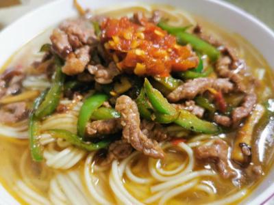 香辣剁椒牛肉面的制作方法